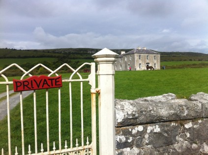 Outside Father Ted's